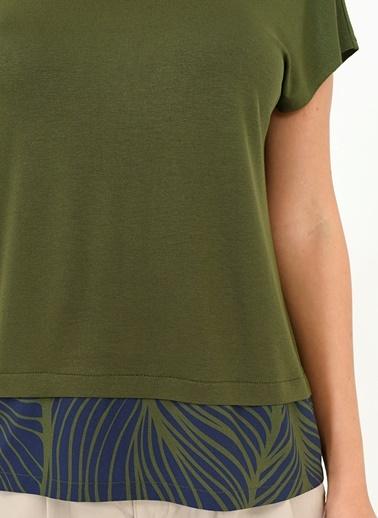 Sırtı V Garnili Tişört-People By Fabrika